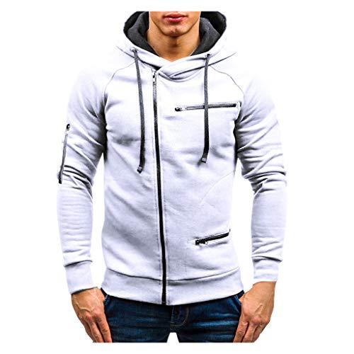 Best Deals! Simayixx Mens Sweatshirt,Couple Warm Solid Zipper Hoodie Warm Sweater Long Sleeve Sport ...