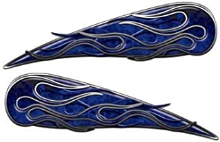 Blue Inferno Motorcycle Gas Tank Flame Decals
