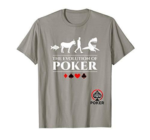 The Evolution of Poker Fish, Donkey, Man, Card Shark Shirt