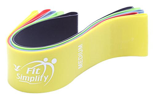 Fit Simplify Resistance Loop Exercise Bands for Home Fitness,...