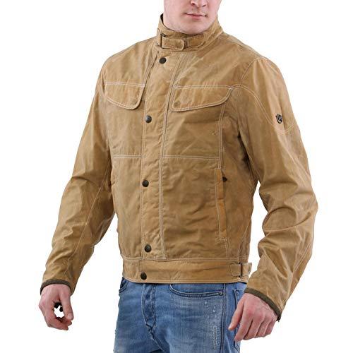 Matchless Herren Sommer Biker Jacke Kensington Soy Wax Blouson Colonial Yellow 110115 Größe L