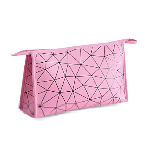 Rhombus Fashion Clutch Bag 2020 New, Phone Purse Makeup Organizer Handbag for Girls and Women,Waterproof Dustproof Leather (Pink)