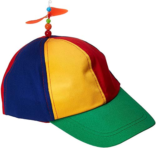 Forum Novelties unisex adult Classic Propeller Hat Costume Headwear, Multi, One Size US