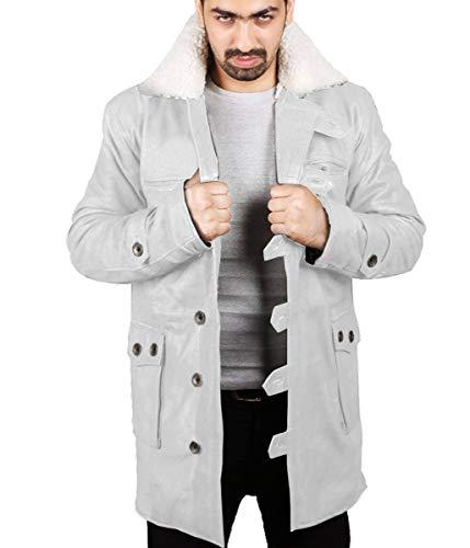 Laverapelle Männer Bane echter Distressed Leder Shearling Mantel (weiß, XS, Polyester Futter) - 1502848
