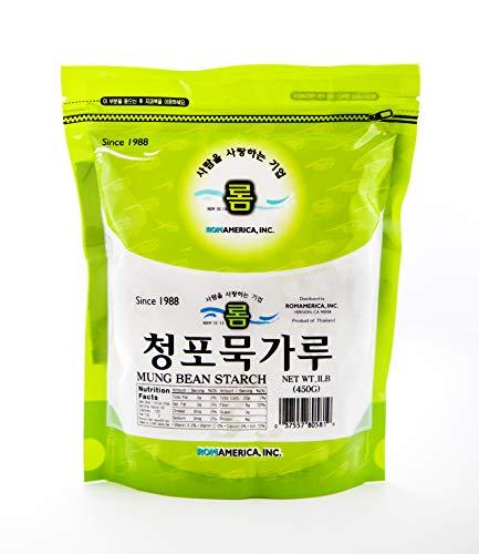 ROM AMERICA Mung Bean Starch 청포묵 가루 (1 LB)