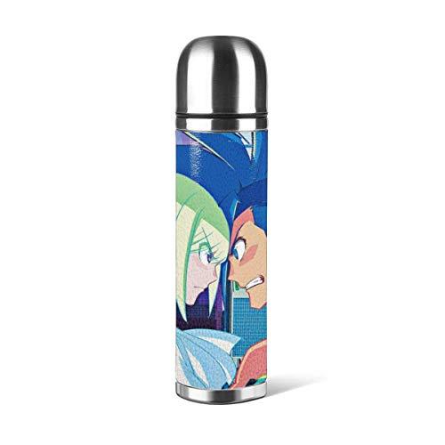 donghu Anime Promare Stainl Botella de agua de acero con doble pared aislada al vacío, diseño deportivo, para coche, portátil, viaje de té