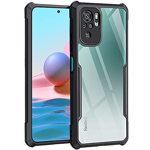 TheGiftKart Back Cover Case for Mi Redmi Note 10 / Note 10S (Shockproof | Crystal Clear | Hybrid TPU &...