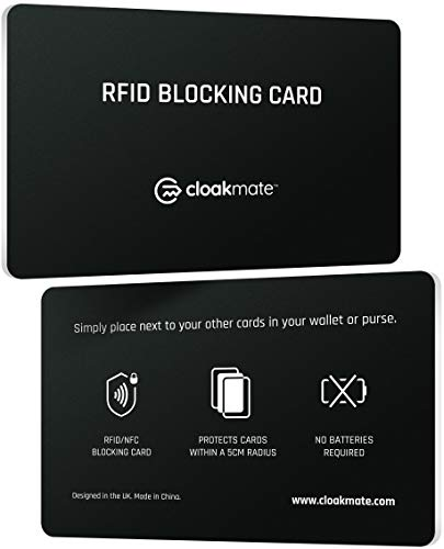 2 x RFID/NFC Blocking Card by Cloakmate | Contactless Protection for Entire...