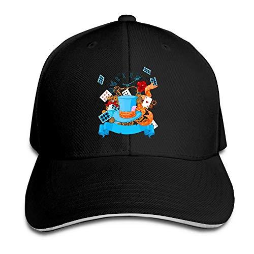 Timdle Sándwich Unisex Gorra de Pico Creativo Dinero Grifo Arte Ajustable Algodón Gorras de béisbol Sombreros