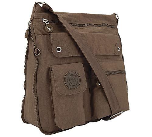 Ekavale - lichte schoudertas voor dames - praktische crossbody handtas - met veel vakken - schoudertas waterafstotende damestas