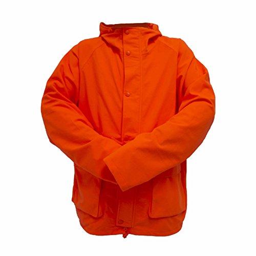 Wildfowler Outfitter Men's Waterproof Parka, Blaze Orange, Small