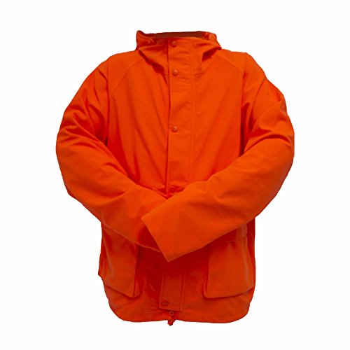Wildfowler Outfitter Men's Waterproof Parka, Blaze Orange, Small