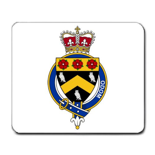 Odom Family Crest Coat of Arms Mouse Pad
