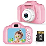 Lovebay Macchina Fotografica Bambini IPS 2,0 HD Fotocamera Bambini Digitale per Bambini 8 Milioni di Pixel Fotocamera Bambini Registrazione di Foto per Bambini 3-5-6-7 Anni, Rosa,32G