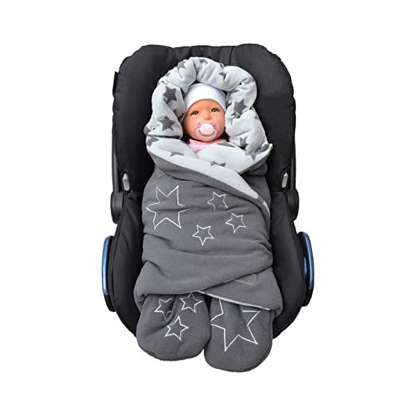 Lilly and Ben Baby Bunting Bag – Stroller Footmuff – Car Seat Bundle-s Swaddle Wrap Blanket for Newborn-s Girl-s Boy-s