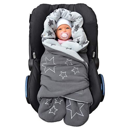 Einschlagdecke Babyschale - OEKO-TEX - Fuß-sack Baby-Decke für Autositz Kinderwagen Buggy Babytrage