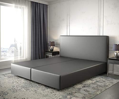 DELIFE Boxspringgestell Dream-Well Kunstleder Schwarz 180x200 Bettgestell