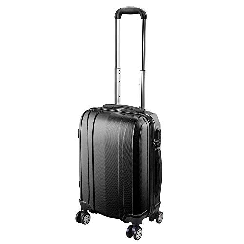 """Yescom 20"""" Carry On Luggage Rolling ABS Hard Shell Travel Suitcase 360 Degree 4 Wheels Lightweight Lockable Black"""