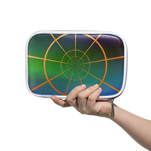 LORONA Globe Coördinaten Sferische Lengte Potlood Case Cosmetische Tas Grote Capaciteit Organizer Make-up Koppeling Tas voor Travel School