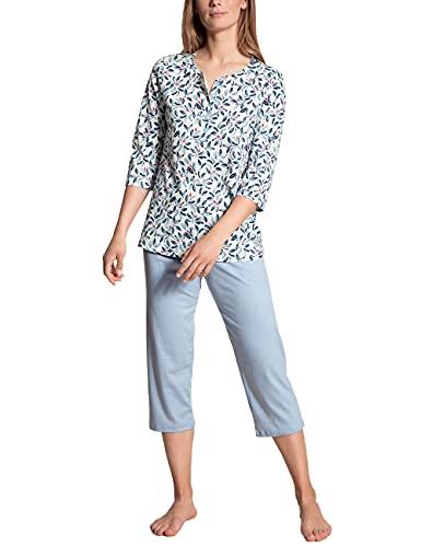CALIDA Damen Daylight Dreams 3/4 Pyjamaset, Blue Fog, 48
