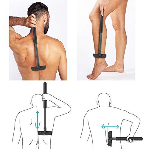 ZRB Back Shaver Adjustable Back Hair Trimmer Body Shaver for Men, Back Razor Hair Removal