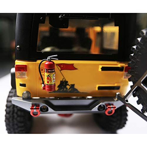 E-outstanding 1-Pack Decoration Fire Extinguisher with Sticker for 1/10 Scale RC Rock Crawler Axial SCX10 RC Car Truck Parts
