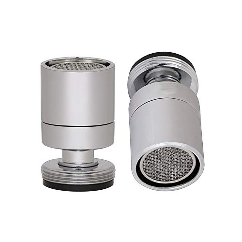 Wasserhahn Luftsprudler, 360-Grad-drehbarer Schwenkkopf, drehbarer Waschbecken Wasserhahn Bubbler, beten Einsteller Düsenkopf für Badezimmer Küche,poliertes Chrom (M24)