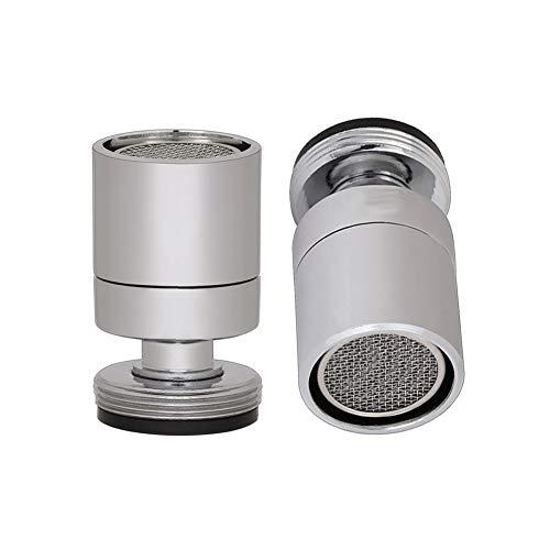 Aireador macho de rosca macho M24, Burbujeador de grifo de fregadero giratorio, cabezal de boquilla del ajustador para cocina de baño, Cromo pulido