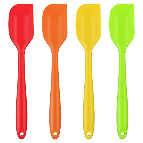 DLOPK Utensilios de Cocina de Silicona,La espátula de Silicona/Antiadherente/Resistente a Altas temperaturas, se utilizan en la Cocina, la Bandeja para Hornear, la Bandeja, etc,28 cm (4 Unidades)