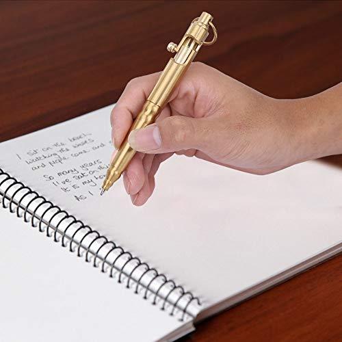 Bolígrafo de latón, buena plasticidad de alta resistencia hecha a mano, práctica para el trabajo diario en la oficina