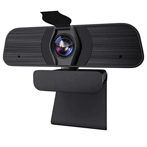 ZKCREATION Webcam - Web Camera per PC con Microfono, 2K HD Videocamera PC Desktop USB 2.0 Videocamera per Videochiamate, Studio, Conferenza, Registrazione, Gioca a Giochi e Lavoro a Casa