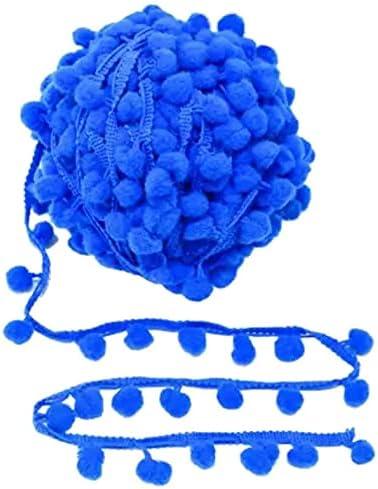 Kalagiri Pompom Blue Cotton Fringe Max 69% OFF Tassels LACE half K Trim for Saree