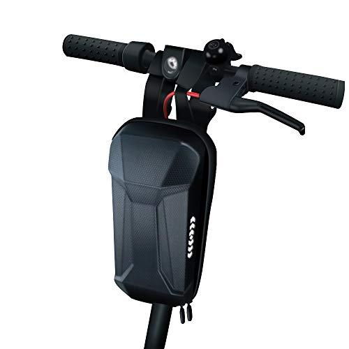 DEBEME Scooter Front Tube Bag, große Kapazität Elektroroller Lenkertasche Handy Aufbewahrungstasche Hard Eva Shell Wasserdicht für Xiaomi M365 / Pro/Ninebot ES1 / ES2 / ES3 / ES4 und Fahrrad