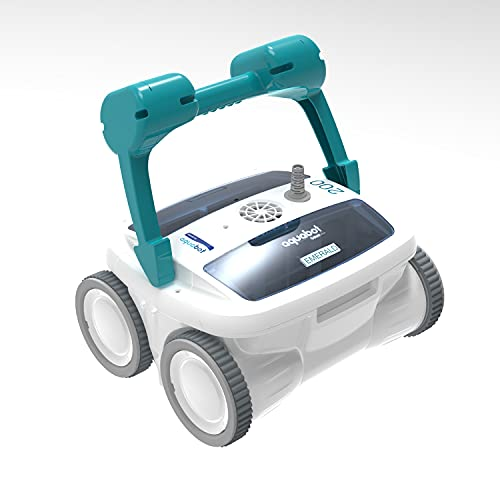 Aquabot Emerald 200 APP Automatic Dual PVC Brush Robot Universal In Ground Pool Cleaner Machine w/ 4D Ultra Fine Microfiber Filtration & 52 Foot Cord