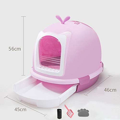 2020 Automatic Cat Litter Box Self Cleaning,lovely Cat Supplies Fully Enclosed Litter Robot Self Cleaning Litter Box Cat Toilet Anti-splashing And Deodorizing Suitable For Cats Under 18 Pounds -best s