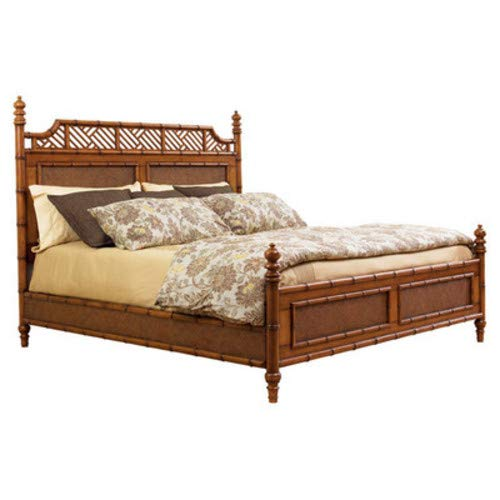 Review Living Better Now Wooden Canopy Bed Frame Headboard Queen Bedroom Sleep Furniture Home Decor ...