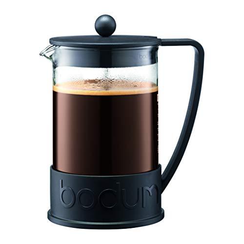 Bodum 11030-01SA-10 Brazil - Cafetera de pistón (plástico, 12 tazas, 1,5 camas), color negro