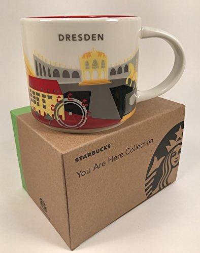 Starbucks Taza de Strasbourg Francia YAH You are here Collection Strasbourg France – 414 ml – blanco/azul