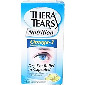 TheraTears Nutrition - Omega-3 Fish Oil Supplement - 183 IU / 1600 mg Strength - Capsule - 120 per Bottle