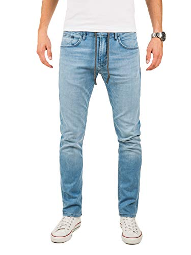 Yazubi Herren Sweathose in Jeansoptik Erik - Jogginghose Jeans - Blaue Jeanshose - Slim-Fit Denim Jogger, Blau (Blue Shadow 174020), W29/L34