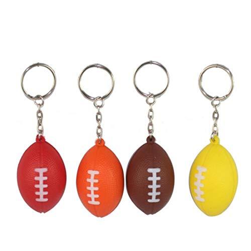 5pcs Keychain Rugby-anhänger Kreative Schlüsselanhänger Sport Schlüsselanhänger Für Kinder-Party-Geschenk Zufälliger Farbe