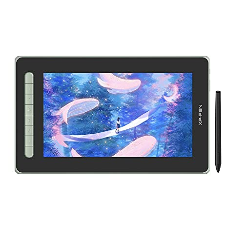 XP-PEN Artist 12 2. Generation Grafiktablett mit Display volllaminiert 125% sRGB X3 Smart Chip Stift kompatibel mit Android Chrombook Linux (Green)