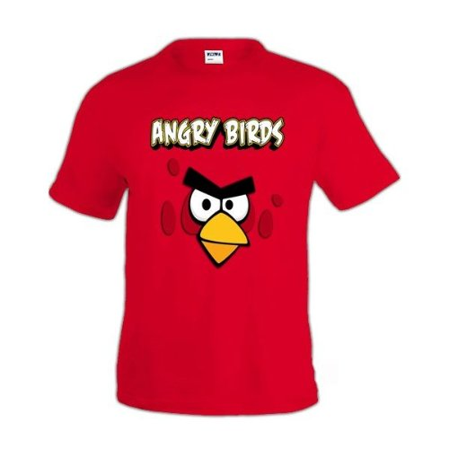 Mx Games Camiseta Angry Birds Red Manga Corta (Talla: 7-8 años)