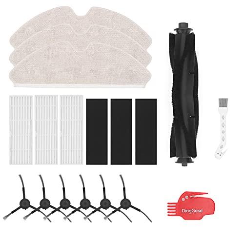 DingGreat Kit di Accessori di Ricambio per Proscenic M7 PRO Robot Aspirapolvere -6 Spazzole Laterali, 3 Filtro, 3 Panno di Pulizia, 1 Spazzola Rullo, 1 Spazzola per la Pulizia