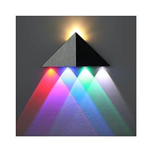 Lightess Moderne 5W LED Wandleuchte Innen Sconce Up und Down Wandleuchten Spot Light Dreieck Perfekt für Wohnzimmerleuchten Schlafzimmer Lampen Flur LED Nachtlicht (Multi-Color)