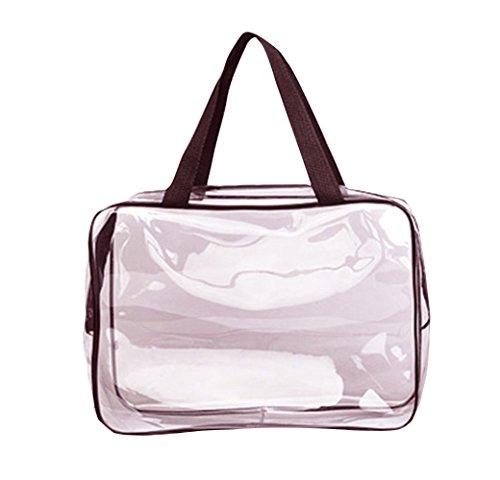 Lovemay Transparent PVC Waterproof Sac à cosmétiques Sac de rangement en trois pièces Sac de rangement Sac de rangement