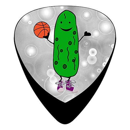 STREMUSIC Funny Pickle Playing Basketball Celluloid Electric Guitar Picks 12-pack Plectrums For Bass Music Tool