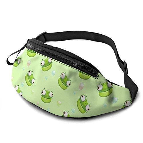 XCNGG Bolso de Cintura Corriente Bolso de Cintura de Ocio Bolso de Cintura Bolso de Cintura de Moda Big Eyes Frog Casual Waist Bag For Men Women Running Travel Fashionable Fanny Pack