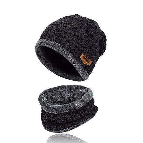 MILIER Sombrero de Invierno con Bufanda, Conjunto de Bufanda de Gorro de Invierno Conjunto de Bufanda Forrada de Lana Conjunto de Bufanda de Gorro Cálido de Invierno