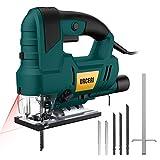 Jigsaw, URCERI 810W 3000SPM Jig Saws Tools with Laser & LED, 6 Step...